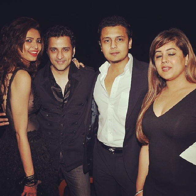 Ritesh and Genelia at Karishma Tanna's Birthday Bash 2014
