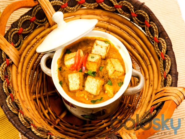 Holi Special Spicy Achari Paneer