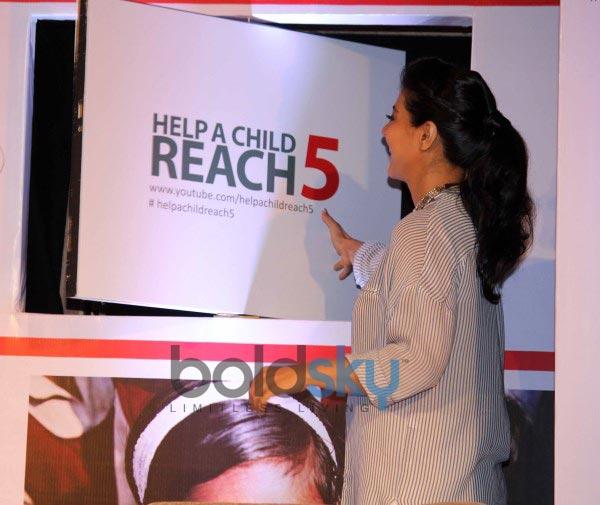 Kajol Devgan during Help a Child Research 5 hand washing programme