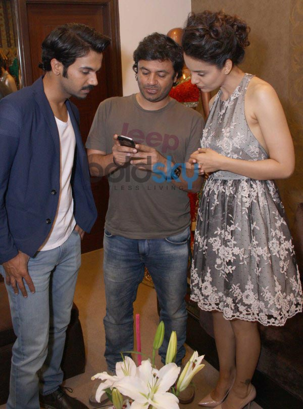Kangana Ranaut with designer Kapil and Mmonika Studio