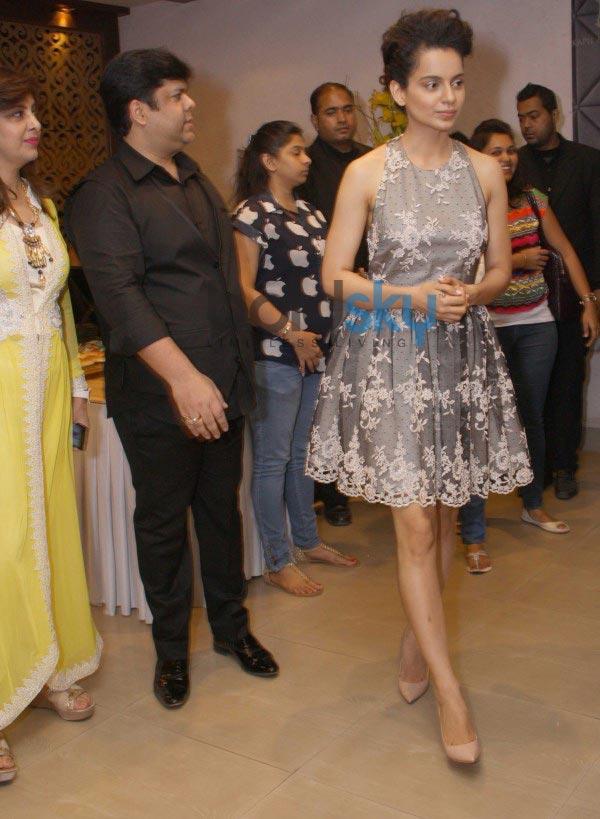 Kangana Ranaut with designer Kapil and Mmonika Studio