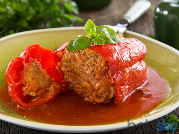 Spicy Chicken Stuffed Bell Peppers