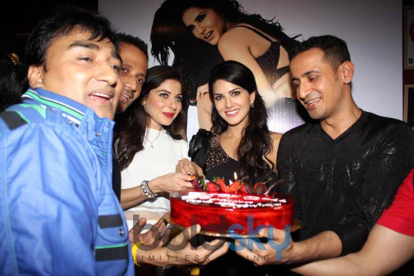 Sunny Leone during Baby Doll song Success Celebration