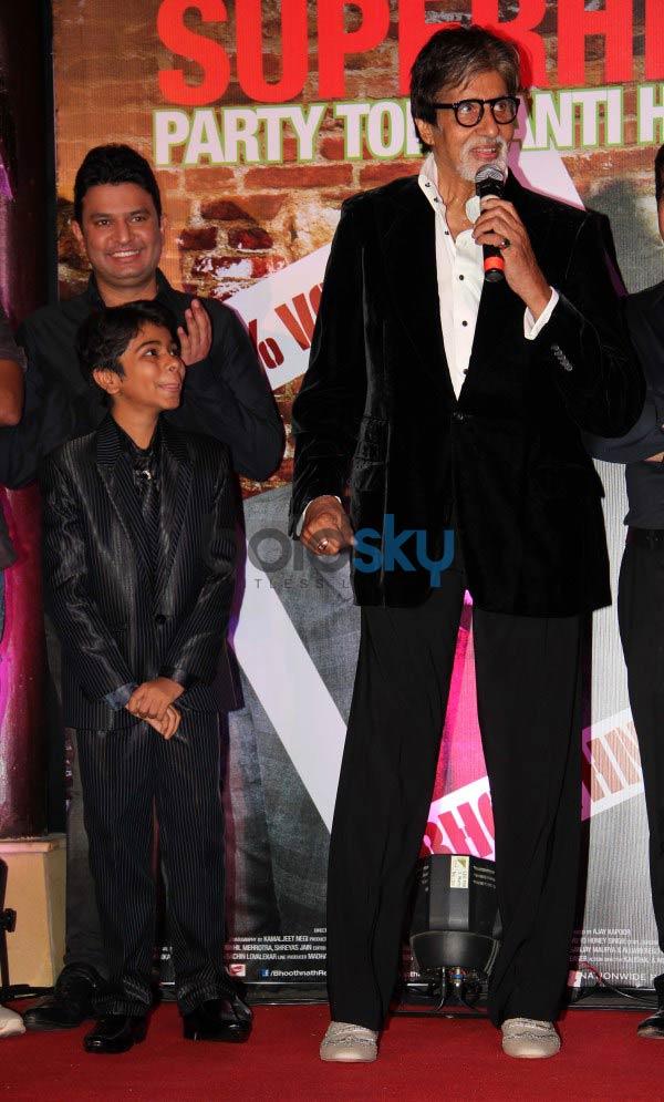 Amitabh Bachchan during Bhootnath Returns Success party