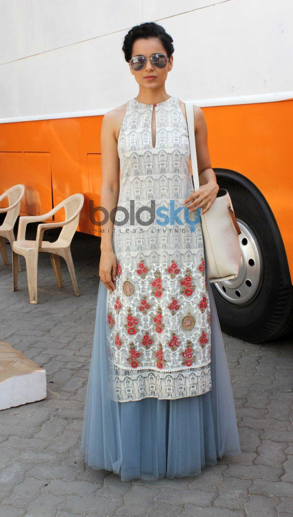 Kangana Ranaut at mehboob studio for film promotion
