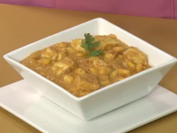 Paneer Corn Korma Recipe