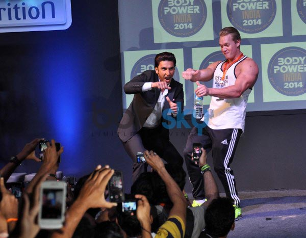 Ranveer Singh and Arjun Kapoor at fitness exhibition