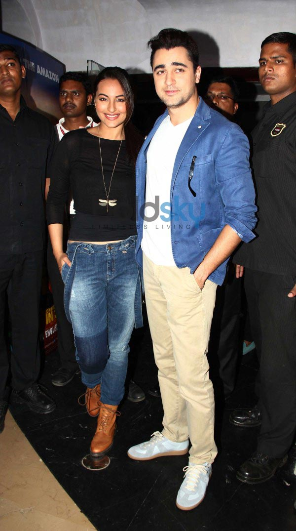 Sonakshi Sinha and Imran Khan at Rio 2 hindi trailor launch