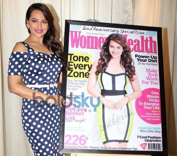 Sonakshi Sinha unveils Women's Health magazine cover
