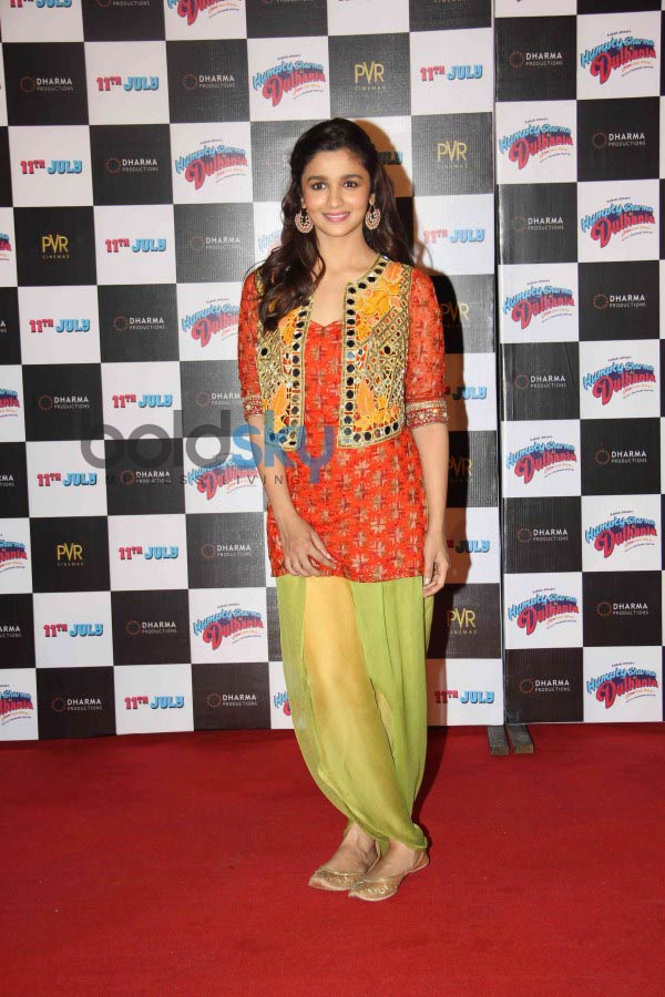 Alia Bhatt and Varun Dhawan at upcoming Film Launch