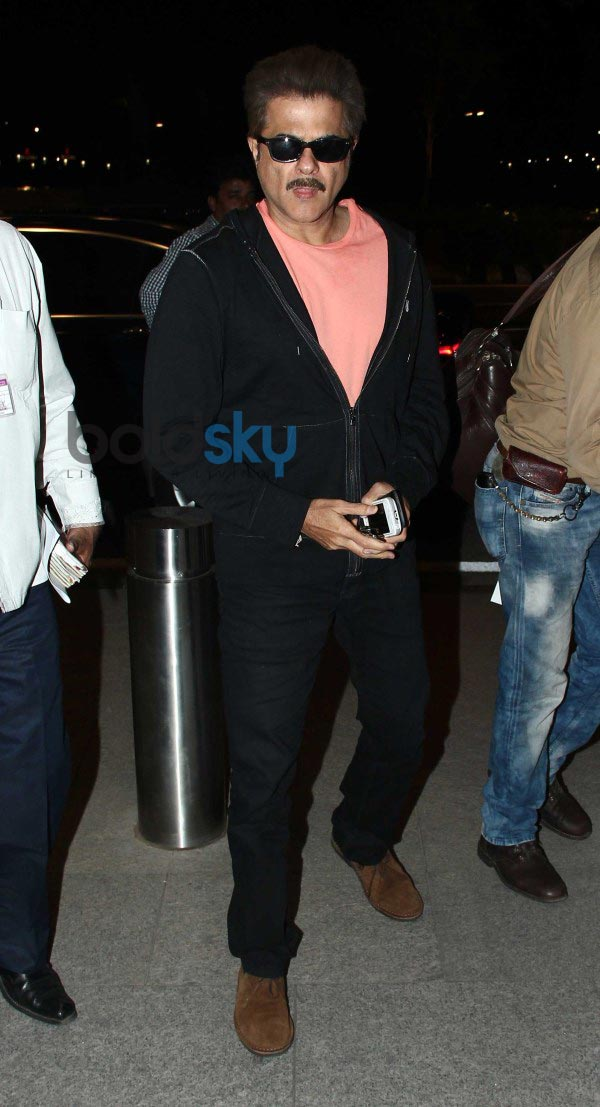 Anil Kapoor, Priyanka and Ranveer leaves for Shooting