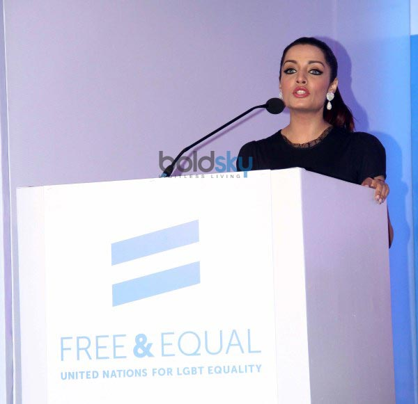 Celina and Imran at United Nations Free and Equal campaign