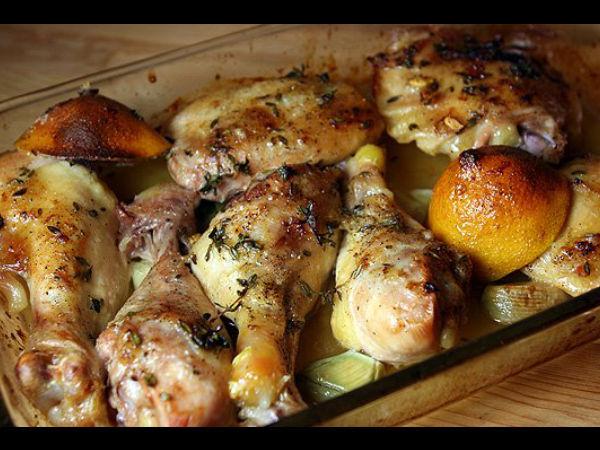 Garlic Chicken With Thyme