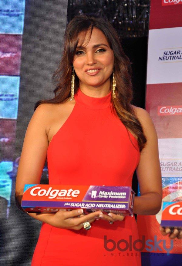 Lara Dutta stuns at Colgate product launch