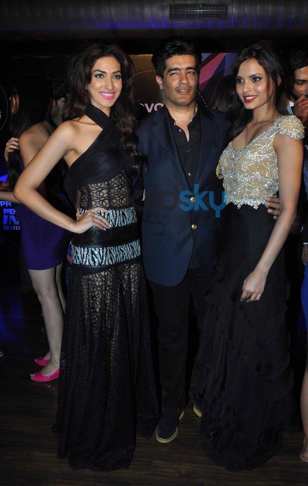Arjun Rampal, Manish Malhotra at Mr. India World 2014