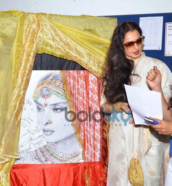 Vidya Balan and Rekha at Whistling Woods Cenema Festival
