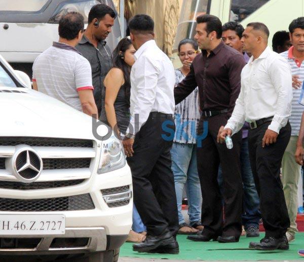 Salman Khan snapped at Mehbob Studio Bandra