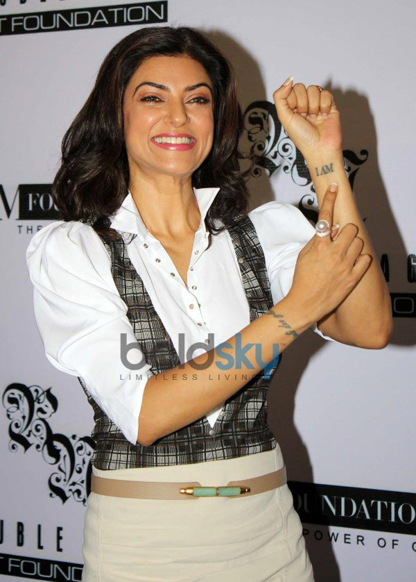 Sushmita Sen and Rouble Nagi at I AM Foundation launch