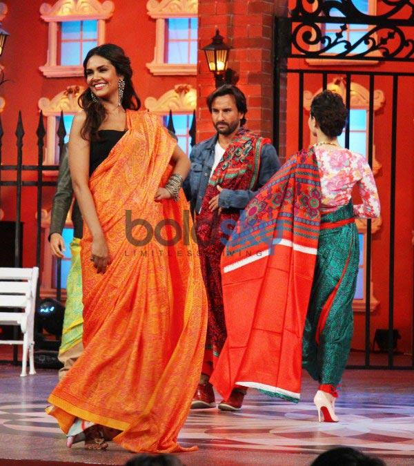 Esha Gupta and Tamannaah Bhatia at Humshakals Promotion