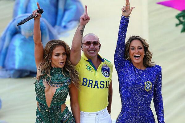 Jennifer Lopez In Leotard At FIFA 2014