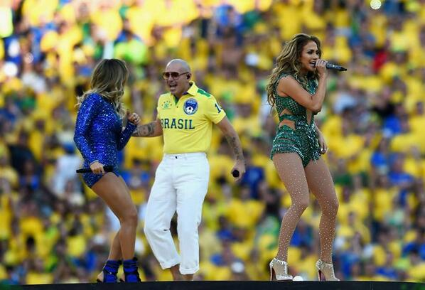 Jennifer Lopez In Leotard At FIFA 2014