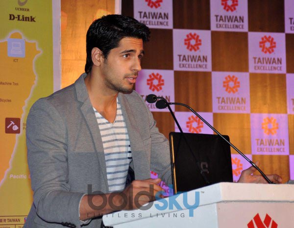 Sidharth Malhotra at Taiwan Excellence 2014 Campaign