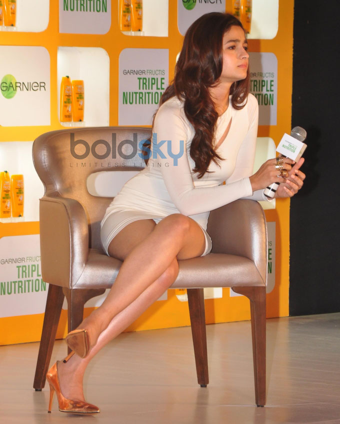 Alia Bhatt launches Garnier Fructis Triple Nutrition