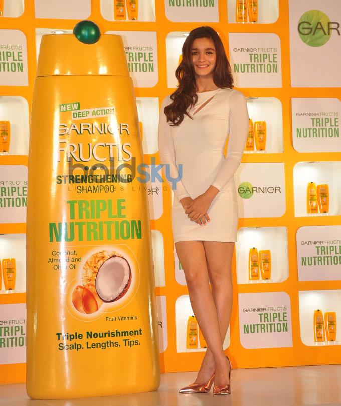 Alia Bhatt launches Garnier Fructis Triple Nutrition