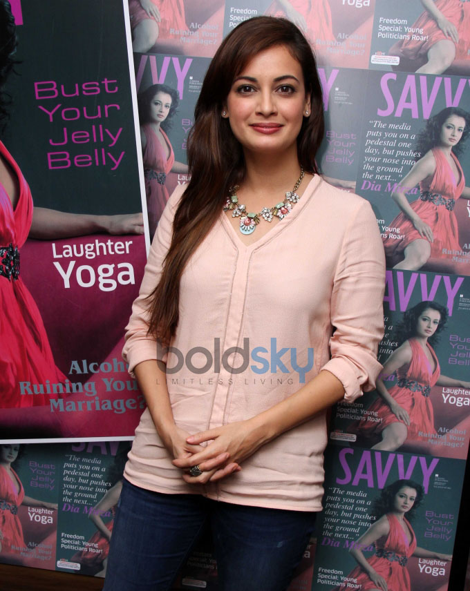 Dia Mirza Unveils latest cover of Savvy magazine