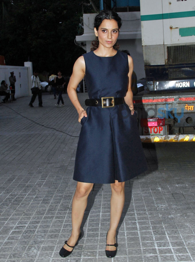 Kangana Ranaut snapped in PVR Juhu Shooting for a Talk Show