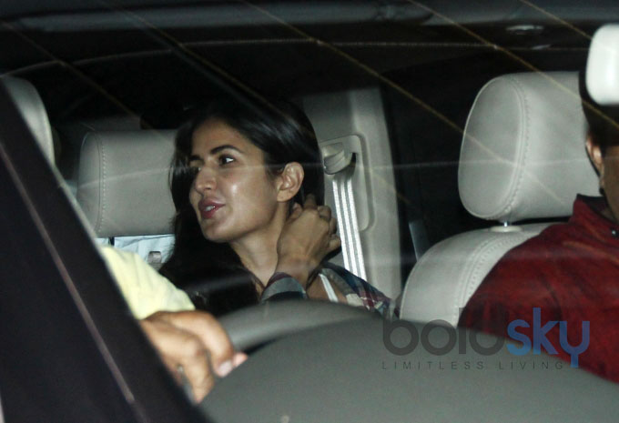Katrina Kaif snapped coming out of a dubbing studio
