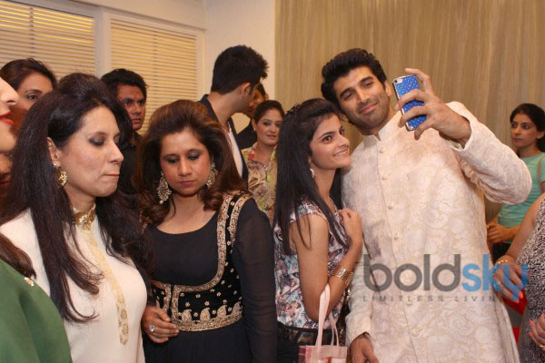Parineeti Chopra and Aditya Roy Kapoor at DIVA NI store in New Delhi