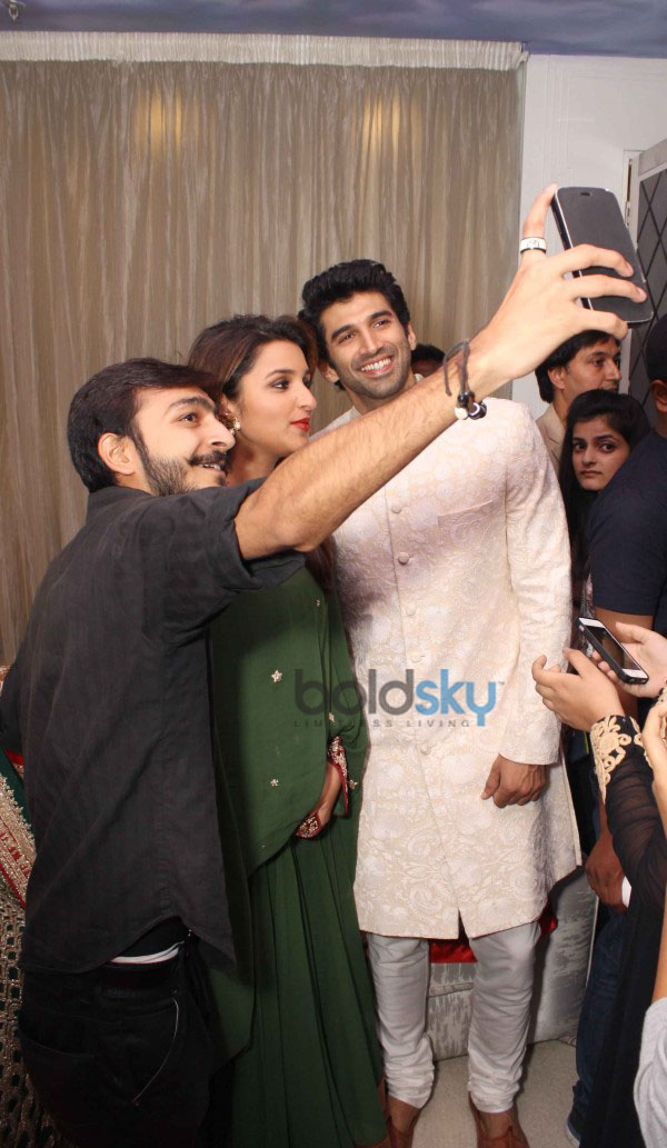Parineeti Chopra and Aditya Roy Kapoor at DIVA NI store in New Delhi