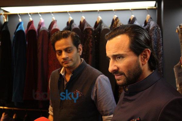 Saif Ali Khan Unveils Raghavendra Rathores Mens Jewellery