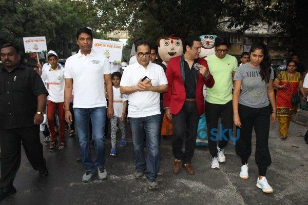 Govinda And Shaan At Surya Sunshine Walkathon