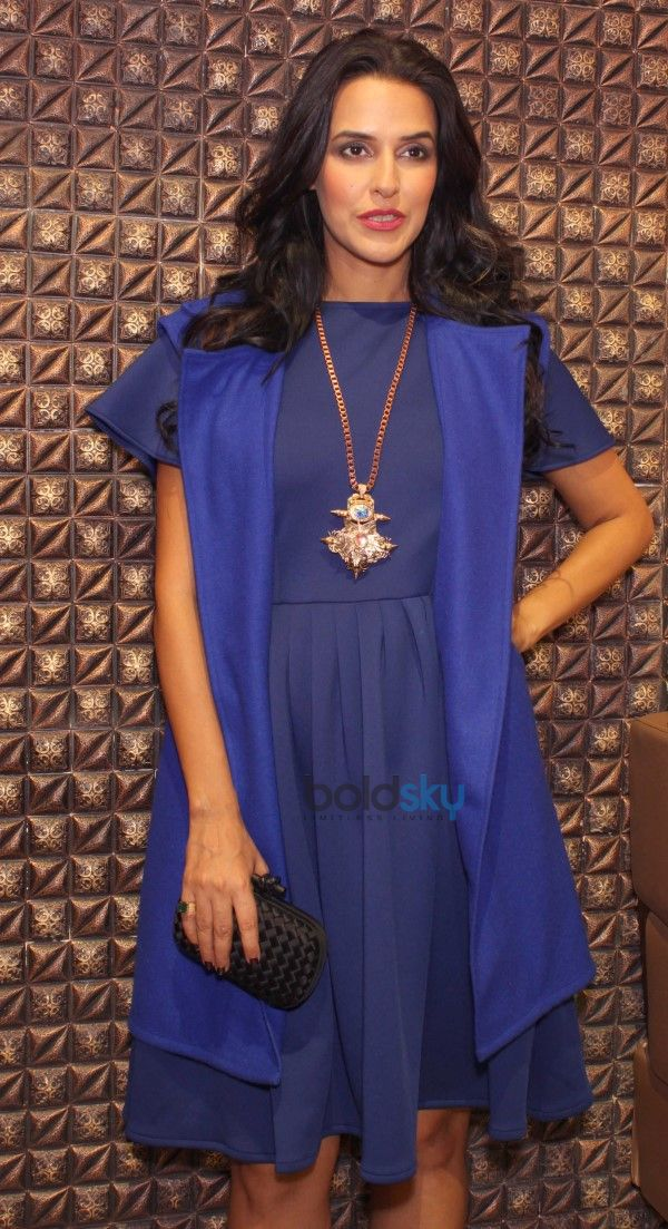 Neha Dhupia At The Unveiling Of Bespoke Beauty And Makeup Studio