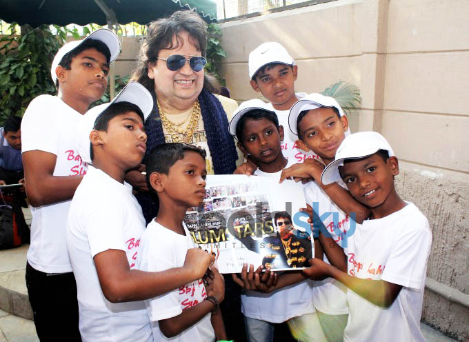Bappi Lahiri Unveils An Album Of Sensational Band Of Singers -Slumstars