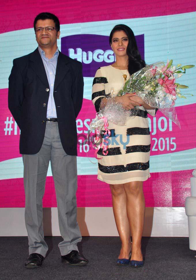 Kajol Launches Huggies, Priceless Moments Mobile Campaign In Mumbai