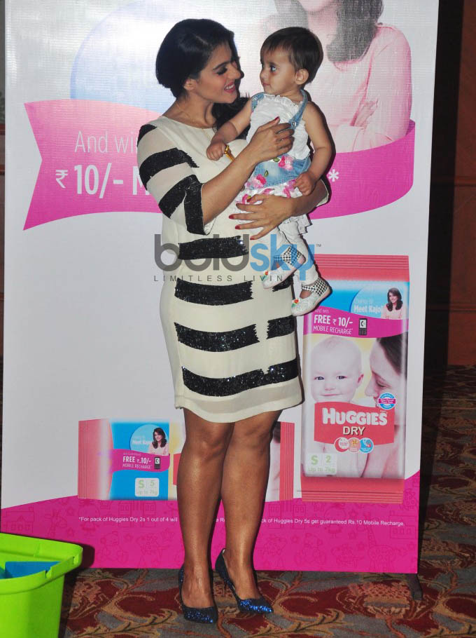 Kajol Launches Huggies Priceless Moments Mobile Campaign In Mumbai
