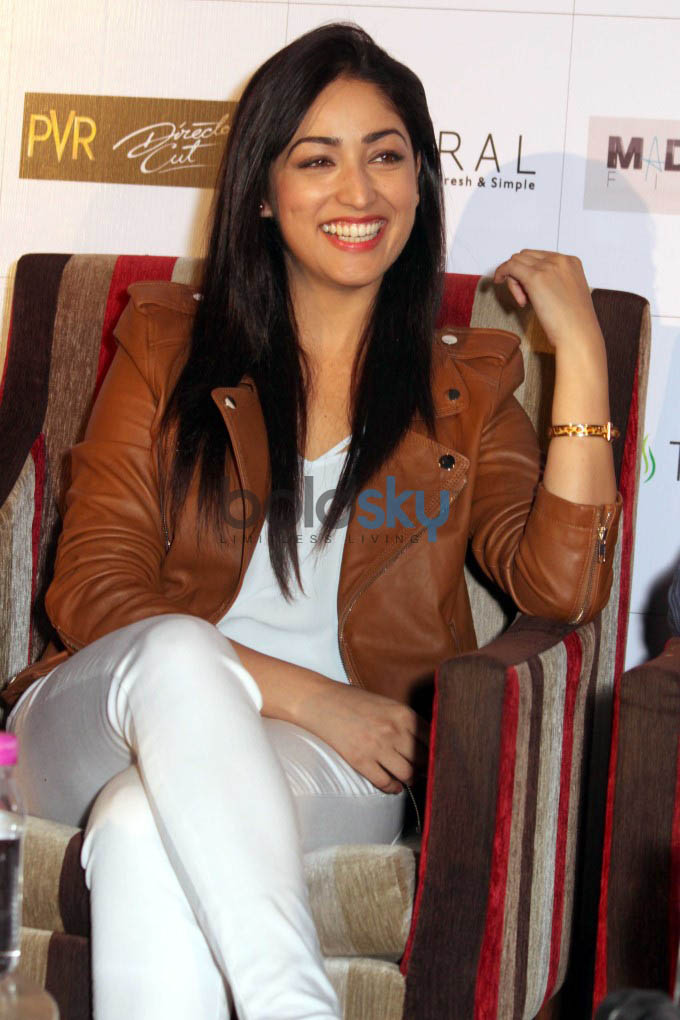 Yami Gautam At A Press Conference To Promote Badlapur In New Delhi