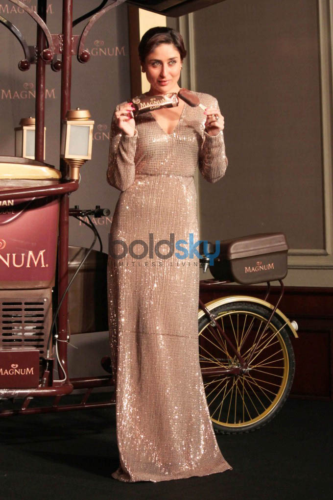 Kareena Kapoor At Launch Of Magnum Ice Cream In New Delhi