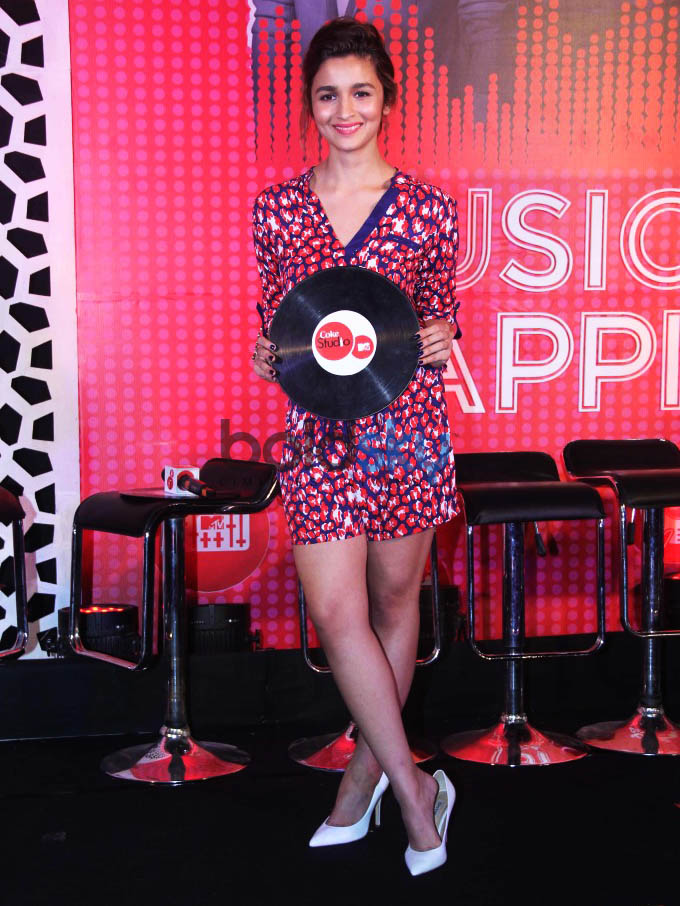 Alia Bhatt AT Launch Of  Coke Studio  MTV Season 4