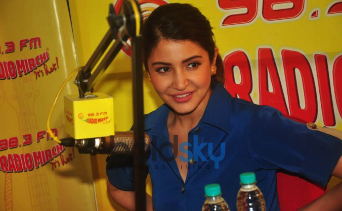 Anushka Sharma  At Radio Mirchi Studio For Promotion Of NH10