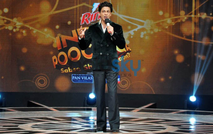 Shah Rukh Khan At India Poochega Sabse Shaana Kaun Press Conference