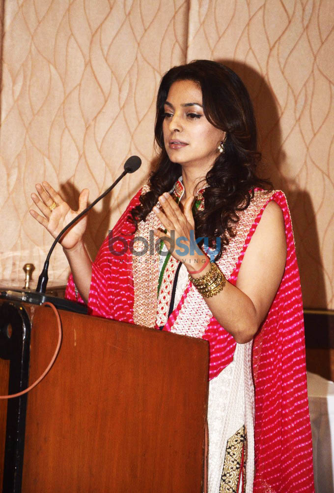 Juhi Chawla At The Inauguration Of Dialysis Centre In Dalvi Hospital In Mumbai