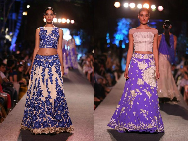 Lakme Fashion Week 2015 WEvolve  Blue Fashion Runway By Manish Malhotra