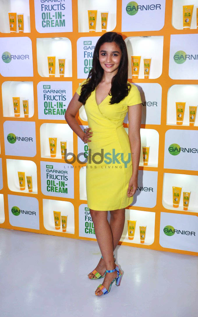 Alia Bhatt And Soni Razdan At Launch Of Garnier Fructis Oil-In-Cream