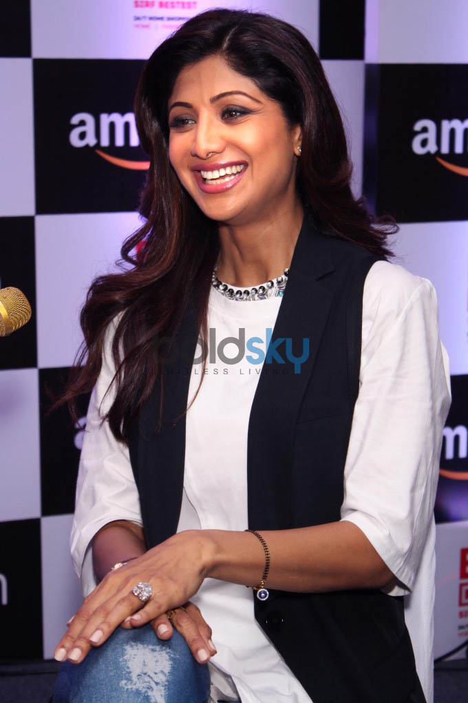 Shilpa Shetty At Launch Of CelebrityEndorsed Products Of Best Deal TV On Amazon