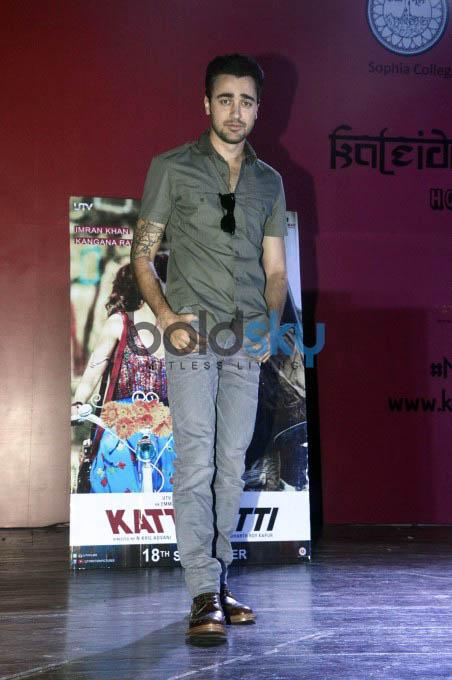 Imran Khan And Kangna Ranaut Promote Katti Batti At Sophia College Photos Pics 294955 Boldsky Gallery Boldsky Gallery