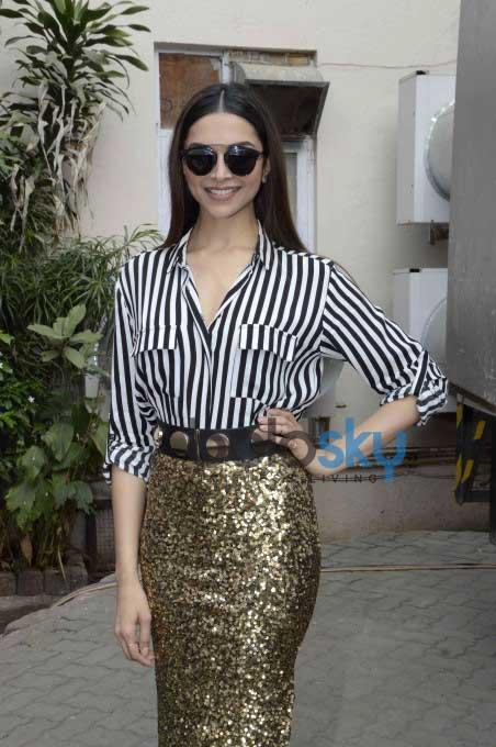 Deepika Padukone At The Press Conference Of 'Bajirao Mastani'